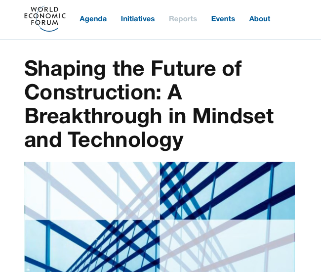 "<a class=""headmagazine"" href=""  https://www.weforum.org/reports/shaping-the-future-of-construction-a-breakthrough-in-mindset-and-technology/  "" target=""_blank"" rel=""noopener noreferrer"">  Presse  </a><br /><br /><a class=""submagazine"" href=""  https://www.weforum.org/reports/shaping-the-future-of-construction-a-breakthrough-in-mindset-and-technology/  "" target=""_blank"" rel=""noopener noreferrer"">  Shaping the Future of Construction: A Breakthrough in Mindset and Technology  </a>"